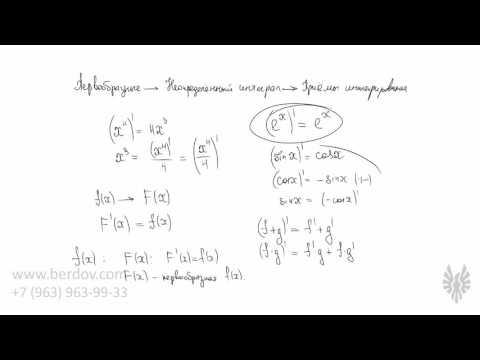 Что такое первообразная и неопределённый интеграл