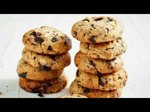 cookies-au-chocolat-facile,rapide-et-délicieux-كوكيز-بالشكلاتة-هشوش-و-ساهل