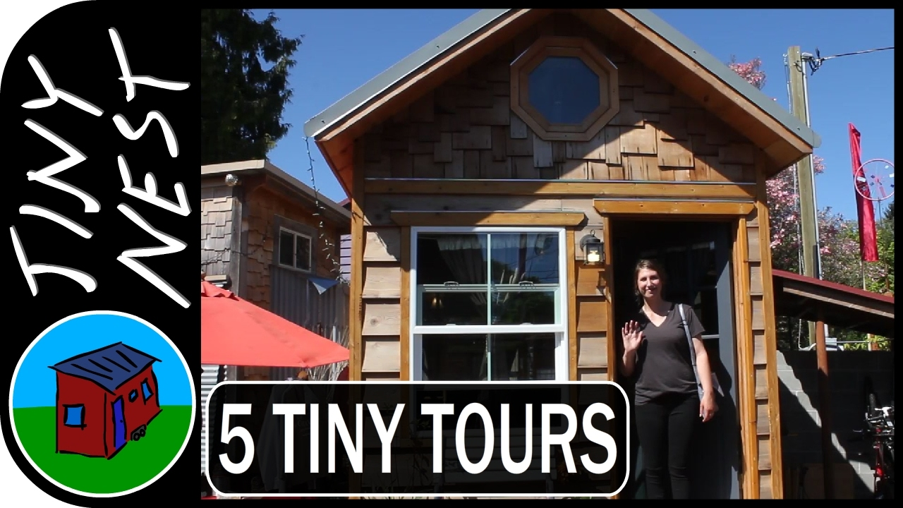 5 tiny house tours youtube for Video home tours