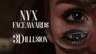 GIORGIA FAGGI  - 3D ILLUSION -  NYX #faceawardsitaly