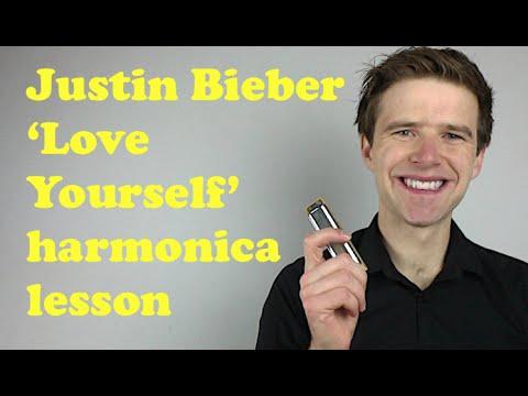 Justin Bieber 'Love Yourself' harmonica lesson: How to play Love Yourself on C diatonic harmonica
