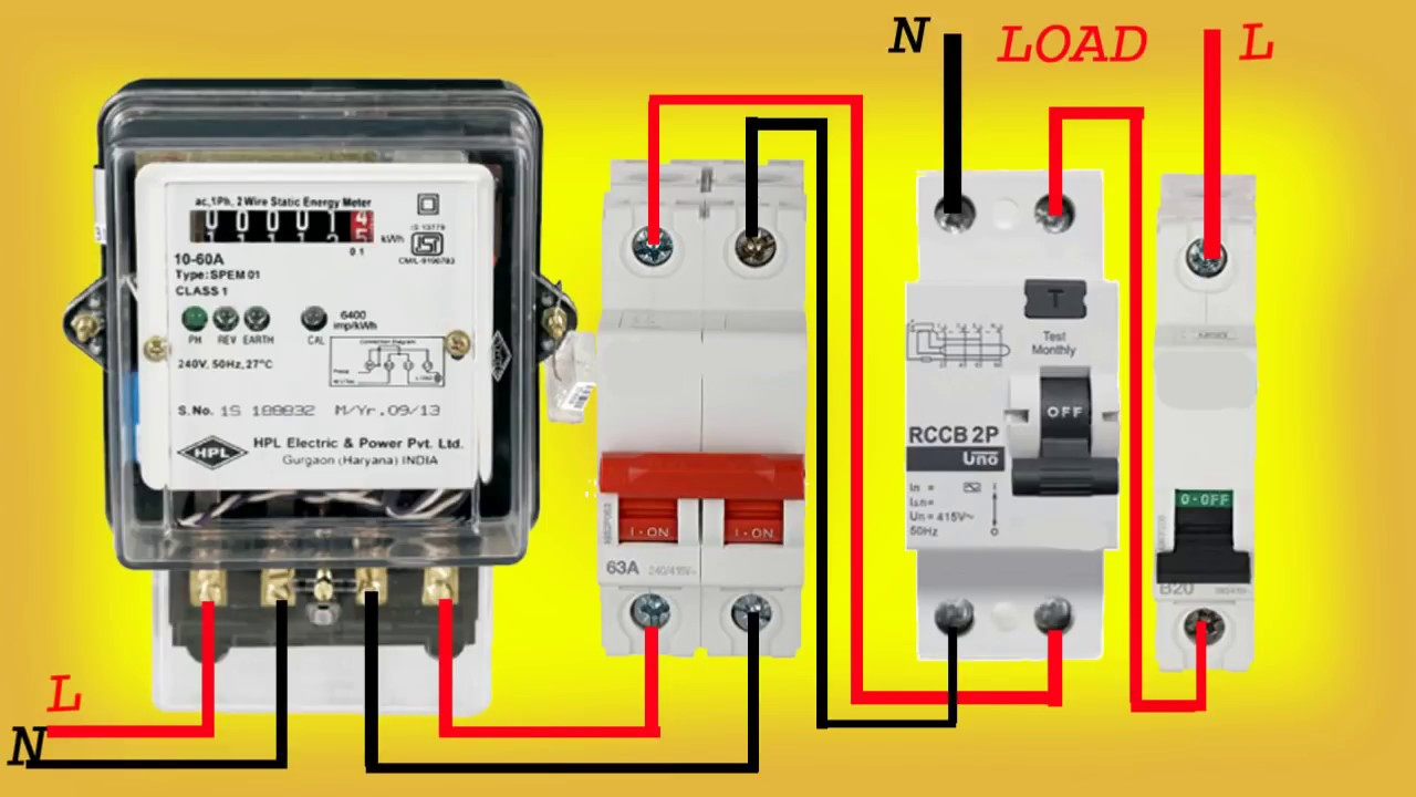 elcb connection indian style youtube rh youtube com Variable Frequency Drive wiring diagram for elcb