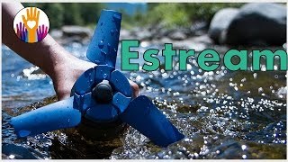 New invention Estream - A portable water power generator fits into backpack