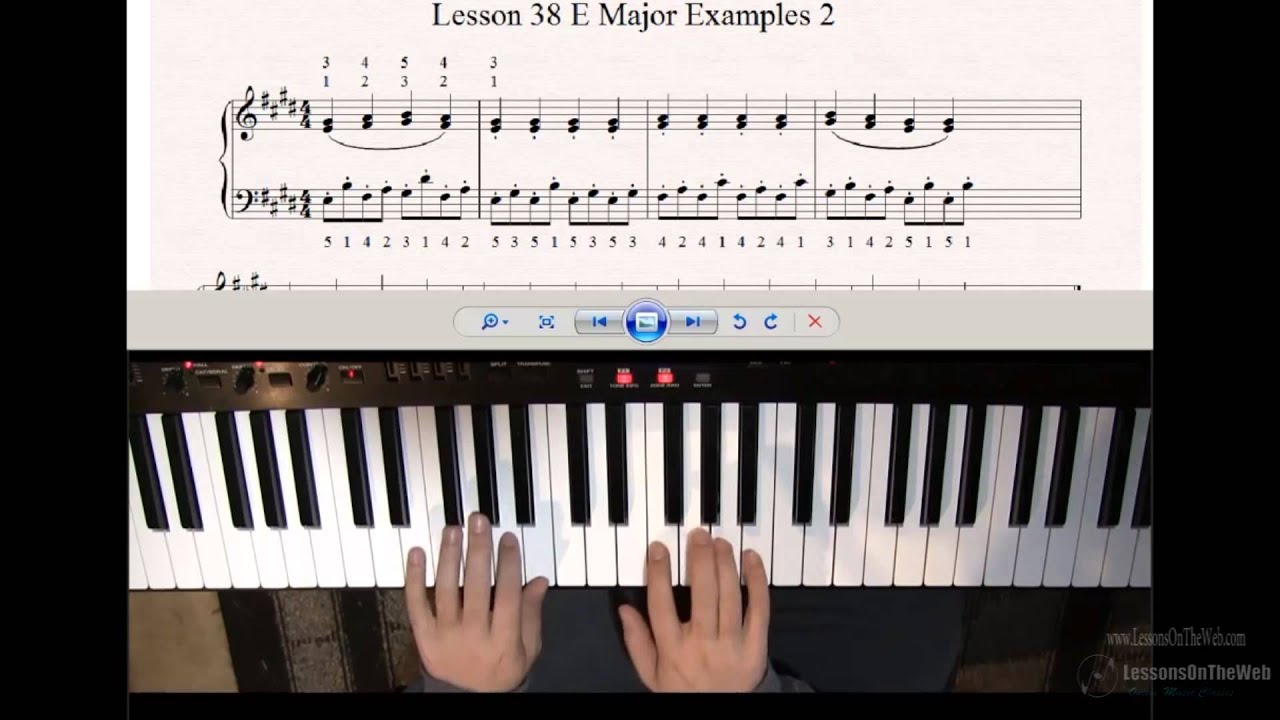 Learn to Play Piano - Lesson 38 - Key of E Major on Piano ...
