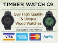 Men's luxury wooden watches with unique style - Timberwatch.co