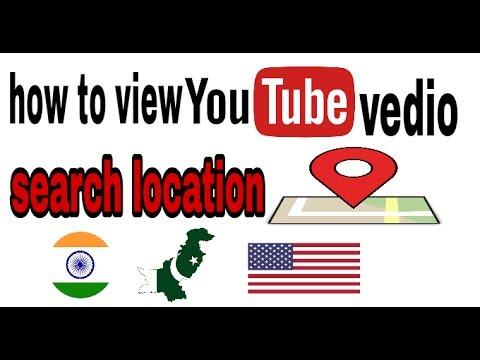 how to view your youtube vedio search locations