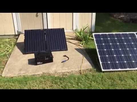 Inergy Kodiak Solar Generator   Charging with MC4 Panels - Warning not successful