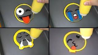Emoji Pancake Art - Tease-ya, Crying, Angry, heart, Sleeping