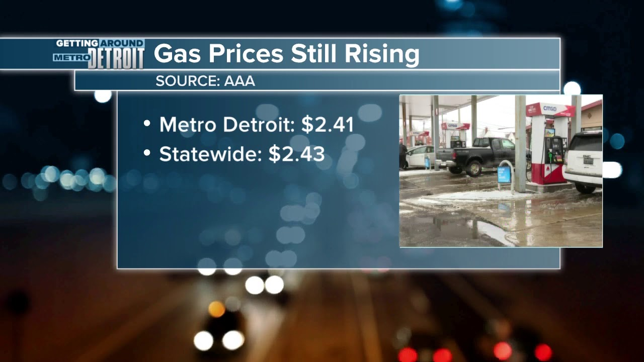 Detroit Gas Prices >> Gas Prices Continue To Rise In Metro Detroit And Michigan Youtube