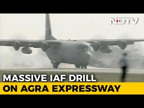 First Of 16 Air Force Planes Lands On Expressway Near Lucknow