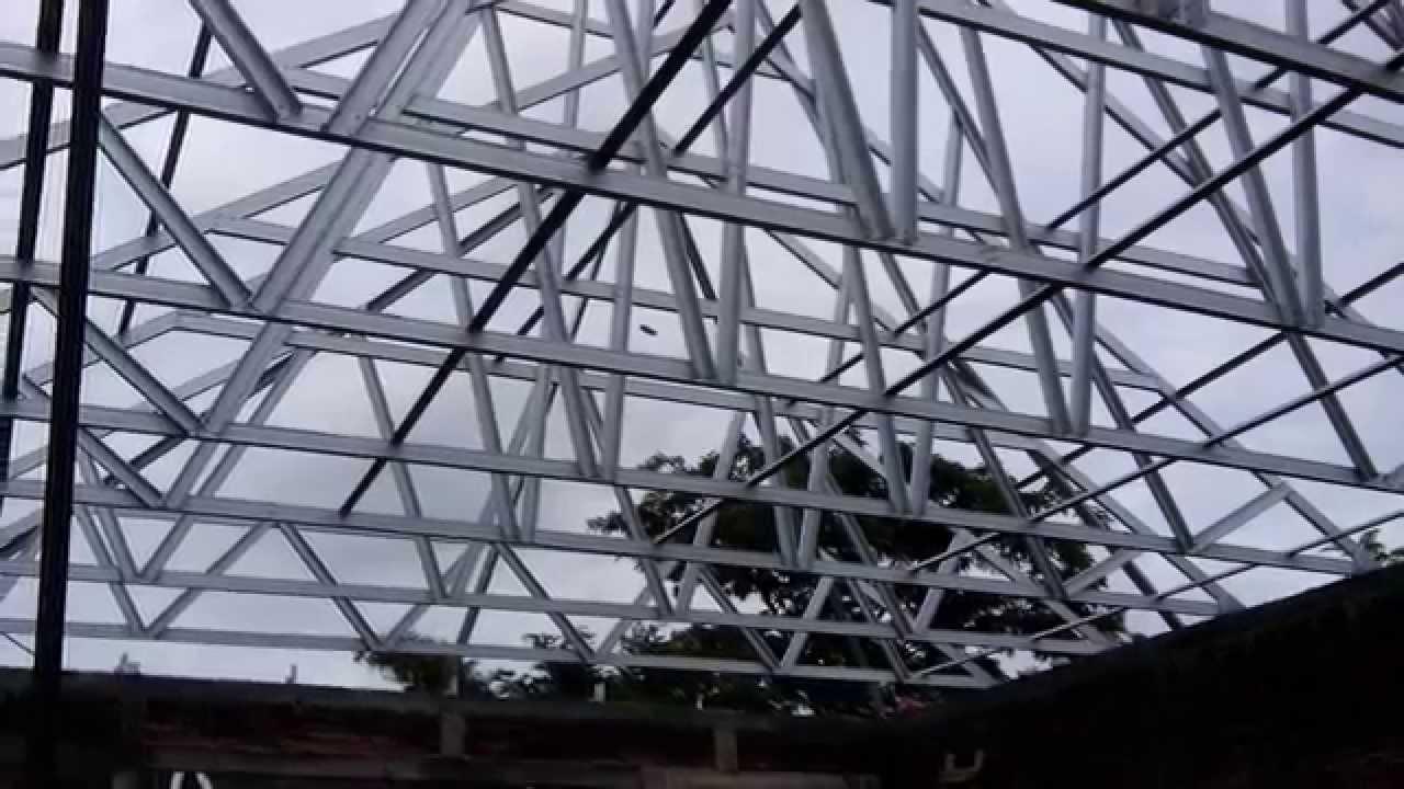 Joglo Dari Baja Ringan 08122887842 Pemasangan Rangka Atap Model Murah