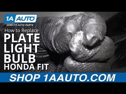 How to Replace Plate Light Bulb 07-14 Honda Fit