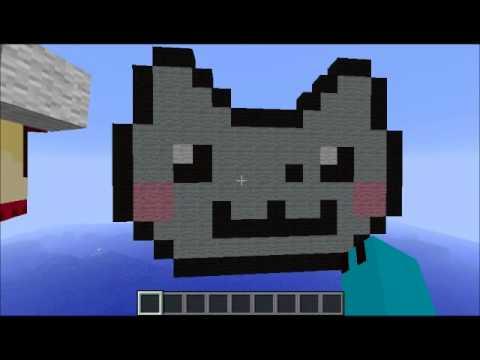 Кот в майнкрафте картинка