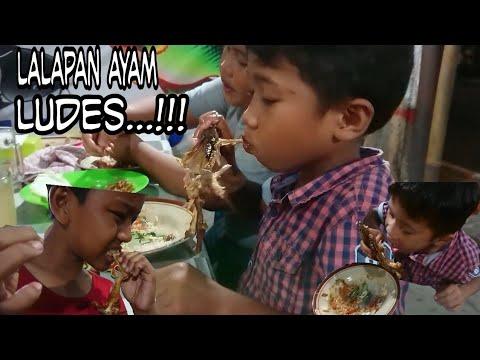 Ampun!!! Lihat Anak Kecil Ini Makan Lalapan Ayam Dan Bebek Goreng  - #hobbyMakan