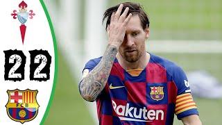 Celta vigo vs barcelona 2-2 all goals & highlights i de resumen