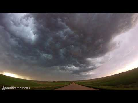 Amazing turbulent eddies with high-based storm in the Nebraska Panhandle!