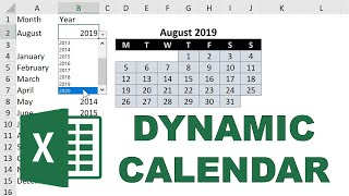 How to make a dynamic calendar in excel