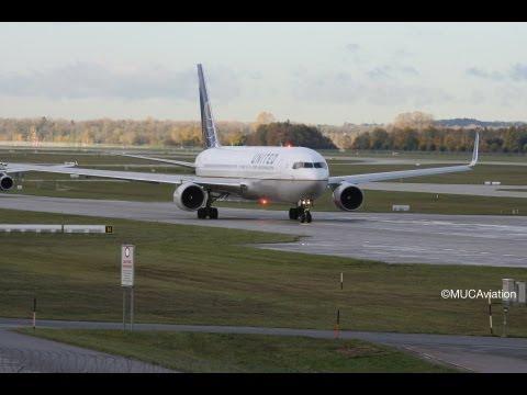 United Boeing 767-300 Takeoff at EDDM [FULL HD]