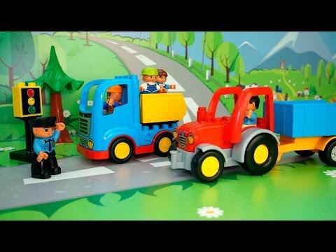 Трактор лего мультфильм