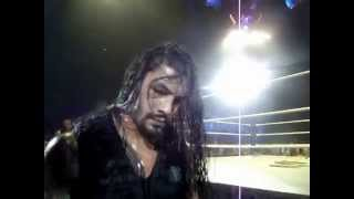 Roman Reigns And Dean Sign My Shirt WWE Nottingham 17 05 2014