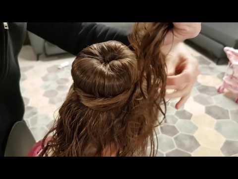 How To Make A Ballet Bun For A Girl With A Long Hair