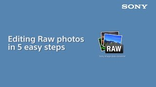 How to: edit RAW photo files with Sony Image Data Converter