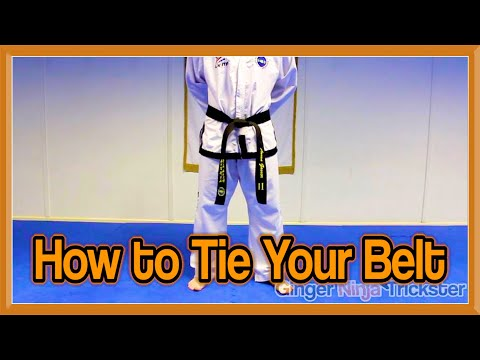 How to Tie Your Belt for Martial Arts (Taekwondo) | GNT Tutorial
