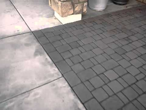 Concrete Paver Cleaning removing stains - YouTube