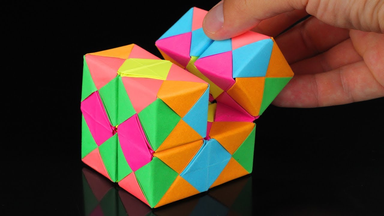 infinity cube. how to make a paper infinity cube! infinity cube c