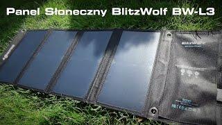 Przenośny panel słoneczny BlitzWolf BW-L3 - Szybki test ładowarki solarnej i moje spostrzeżenia :)