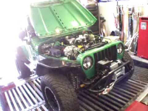 Jeep TJ 4 0 35s 220whp RIPP Supercharged - YouTube