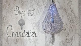 Bling Chandelier DIY / Wedding Chandelier DIY / Quinceanera Chandelier / Dollar Tree DIY