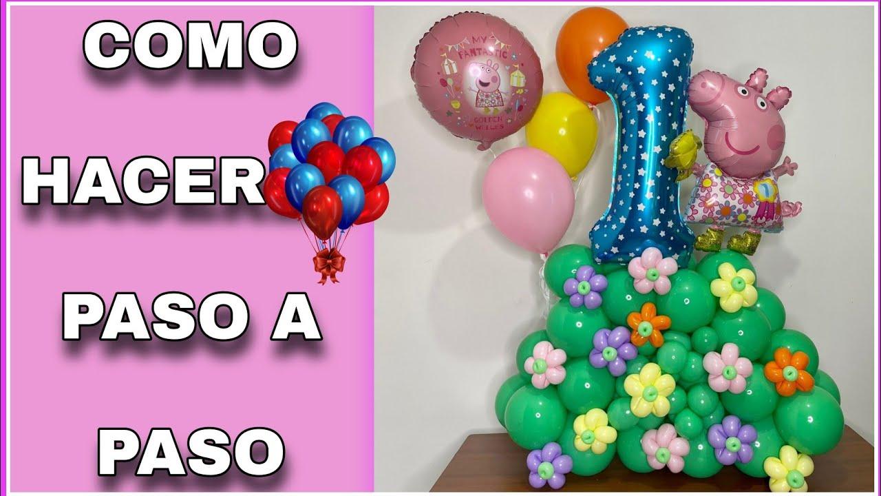 como hacer bouquet de globos infantil hacer bouquet con globos / arreglo con globos PEPPA PIG