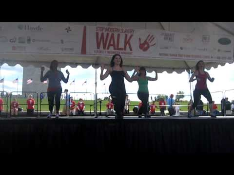 Superwoman Warmup Workout  DC SMS Walk 2012