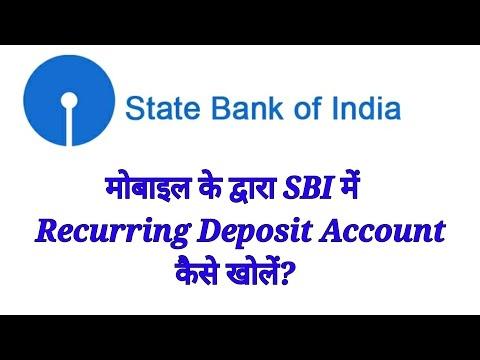 How to open recurring deposit account in sbi online