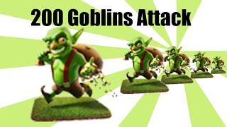 Clash of Clan - 200 Goblins Attack