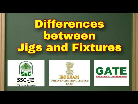 Difference between Jigs and Fixtures @Mechanical Engineering