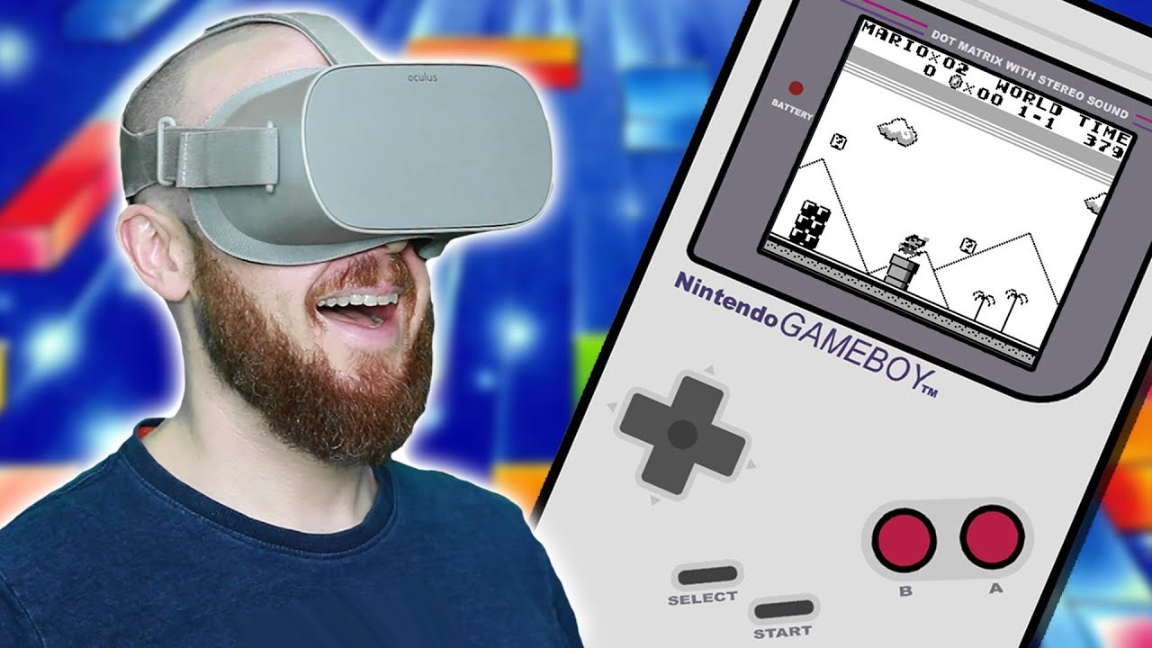 GAMEBOY ON OCULUS GO!! GearboyVR Emulator Oculus Go Gameplay