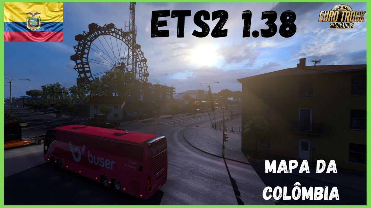 ETS2 1.38 / MAPA DA COLOMBIA / ONIBUS VISSTABUSS DD 15 METROS