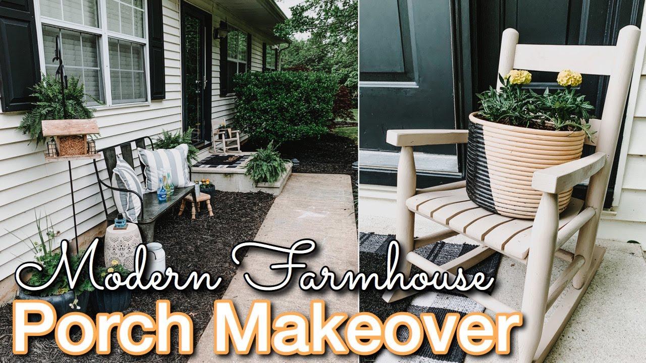 diy front porch makeover on a budget decorating ideas modern farmhouse porch porch diy