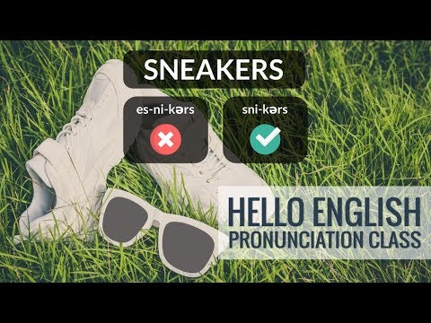 How To Say  Sneakers, Ballet Shoe, Moccasins, Etc? Hello English Pronunciation Class 54
