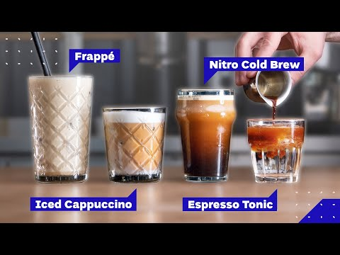 All Iced Coffee Drinks Explained: Cold Brew vs Iced Latte vs Frappe and more!