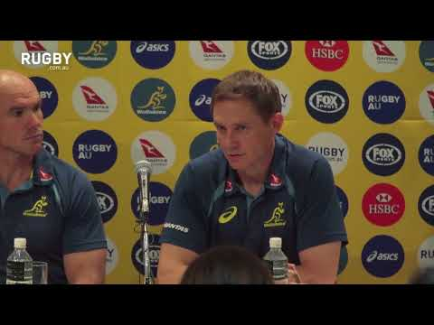 Full press conference: Wallabies arrive in Japan
