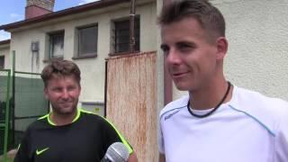 David Škoch a Petr Nouza po výhře ve čtvrtfinále čtyřhry na turnaji Futures v Ústí n. O.