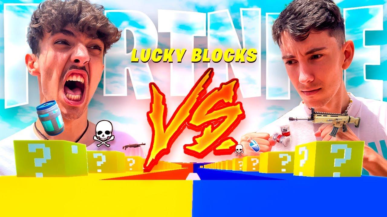 LA CARRERA CONTRA VICENS de LUCKY BLOCKS en FORTNITE