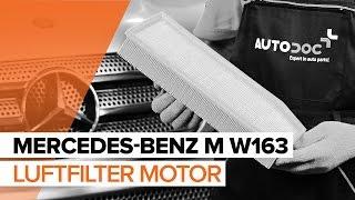 Så byter du luftfilter, motor på MERCEDES-BENZ M W163 [GUIDE]