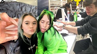 INSANE Billie Eilish Acrylic Nail 24 Hr Challenge! Boy vs Girl w/Chase Keith... FionaFrills