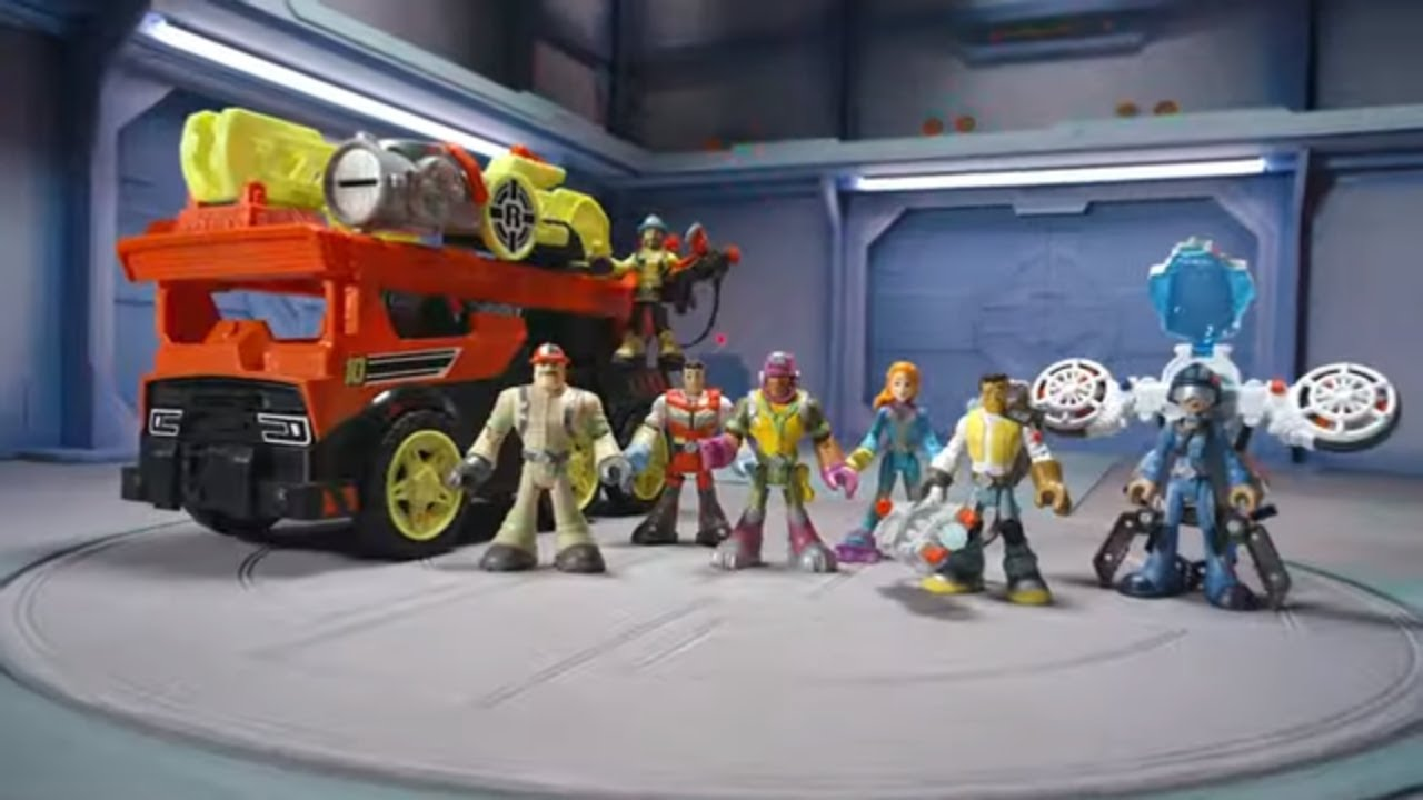 Rescue Heroes Transforming Fire Truck with Lights /& Sounds free shipping NEW