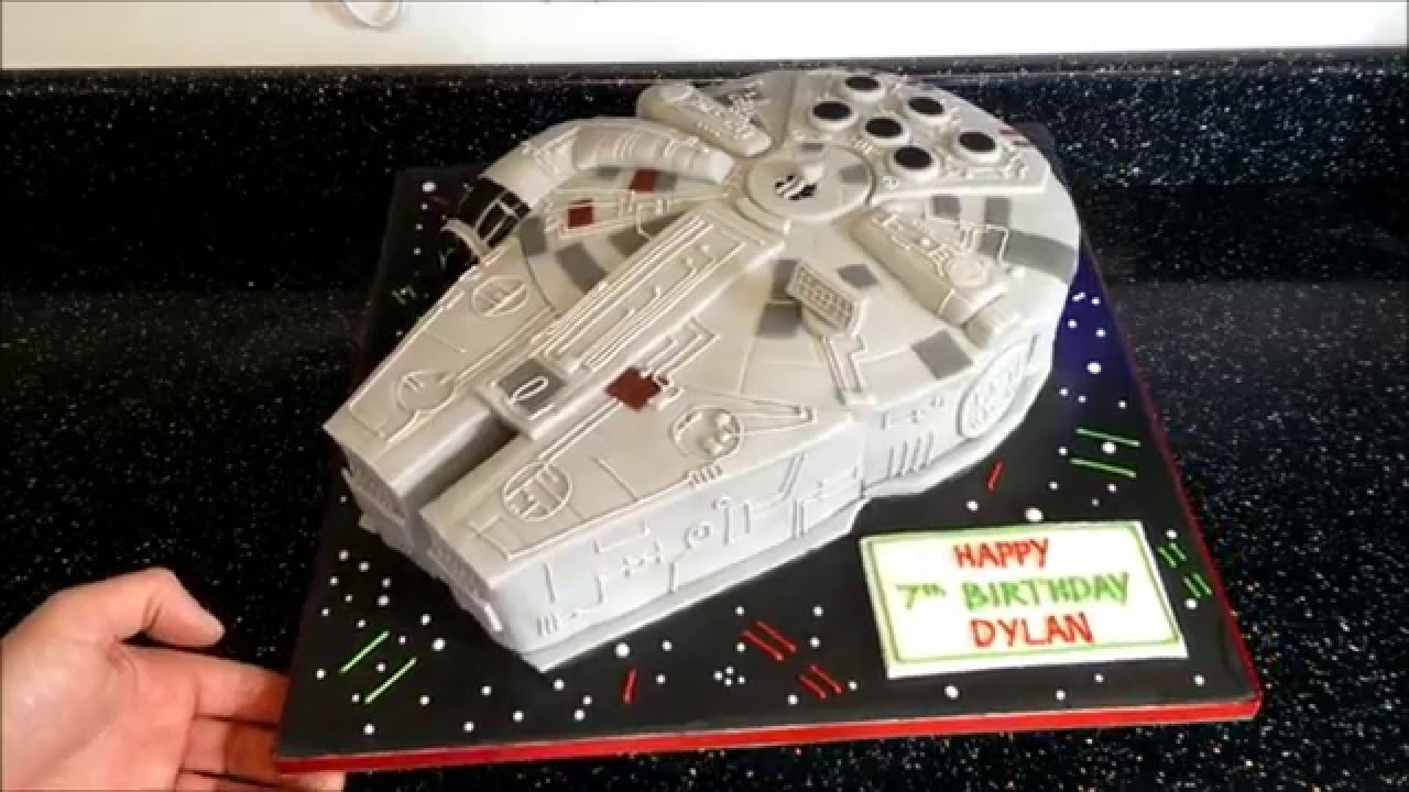 Millennium Falcon Cake With Lights Time Lapse Youtube