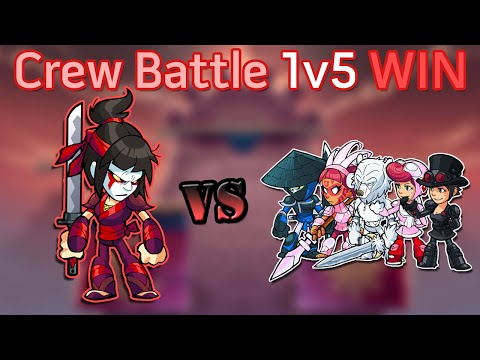 Brawlhalla: Beating an ENTIRE TEAM in a Crew Battle (3 vs. 15 stocks)